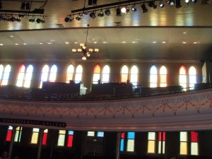 Stained Glass inside the Ryman Auditorium