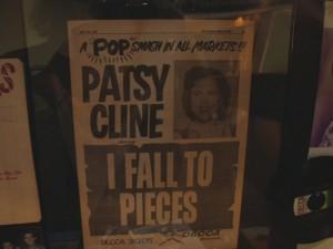 Patsy Cline handbill