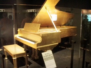 Elvis Presley's Gold Piano
