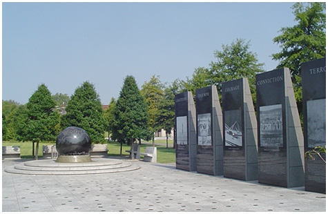 The World War II Memorial in Nashville