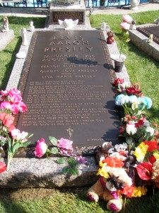 Elvis and his parents are buried in the Meditation Garden.