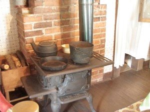 Mama Presley's wood-burning stove