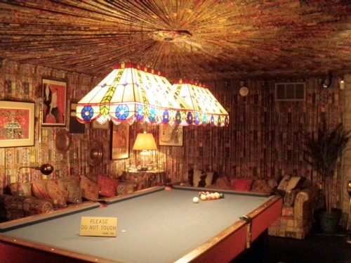 The Pool Room was a lesson in what not to do with fabric