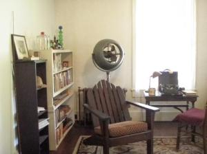 Faulkner's office and special bookshelf