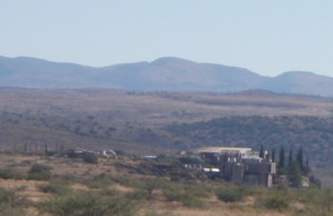 From a distance Arcosanti looks like a scene from a Mad Max movie