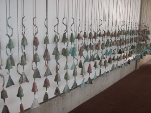 Soleri bells of all shapes and sizes decorate the gift shop and provide most of the funding for the project