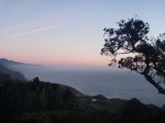 The gloaming from the deck of Nepenthe Restaurant, Big Sur