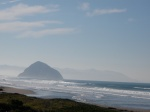 View of Morro Rock from the Pacific Coast Highway