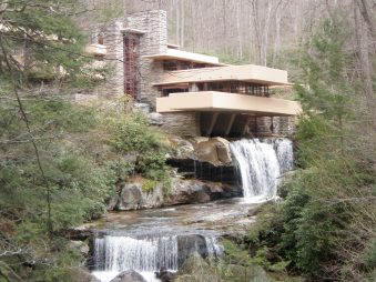 Fallingwater, a Frank Lloyd Wright's masterpiece in Mill Run, Pennsylvania